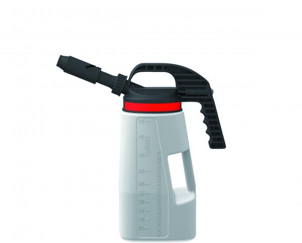 Abfüllkanne PE mit kurzem/langem Auslauf 5 L, Polyethylen