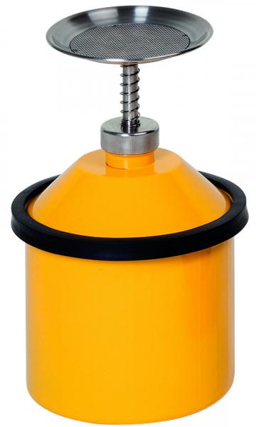 Sparanfeuchter, 2,5 l, Stahl verz.+ gelb lackiert, Stahlblech verzinkt und pulverbeschichtet