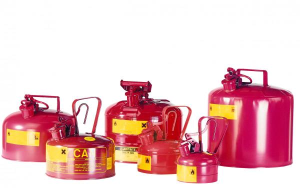 Sicherheitsbehälter Stahlblech lackiert Rot, Inhalt: 1 Liter, Stahlblech lackiert