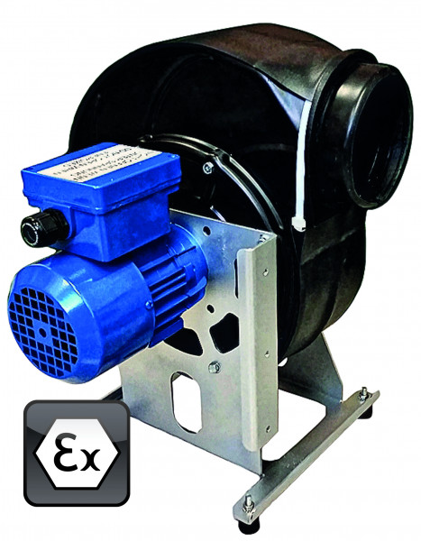 Ventilator Modell EP.VE.29428 für Gefahrstoffarbeitsplätze, Polypropylen