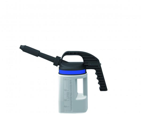 Abfüllkanne PE mit kurzem/langem Auslauf 2 L, Polyethylen