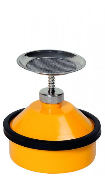 Sparanfeuchter, 1 L, Stahl verzinkt + gelb lackiert, Stahlblech verzinkt und pulverbeschichtet