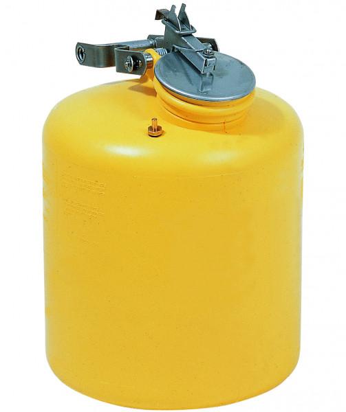Sicherheitsbehälter 19 L, Gelb aus Polyethylen Ø x H 317 x 432 mm, Polyethylen