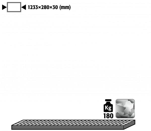 Gitterrost als Lagerebene für Modell(e): G30 mit Breite 1400 mm, Stahl verzinkt
