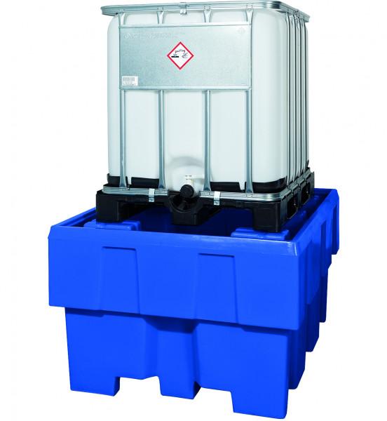 IBC-Station unterfahrbar PE ohne Gitterrost 1280x1660x870, Polyethylen