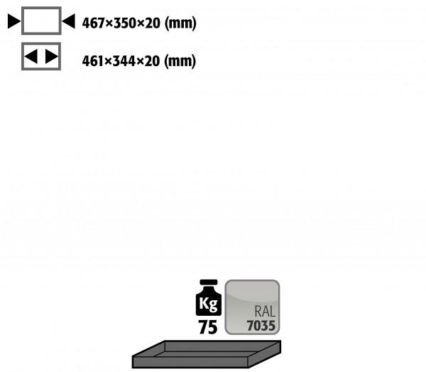 Fachboden Standard für Modell(e): UB90 mit Breite 590/1100 T=500 mm, Stahlblech pulverbeschichtet glatt