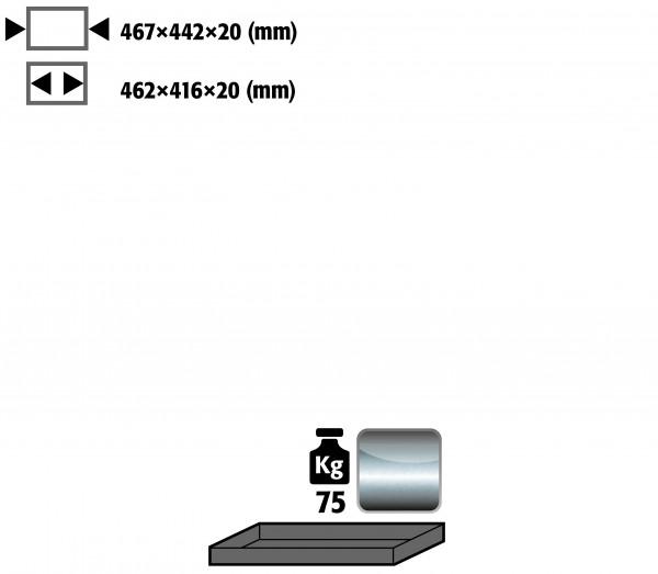 Fachboden Standard für Modell(e): UB90 mit Breite 590/1100 mm, Edelstahl 1.4301 roh