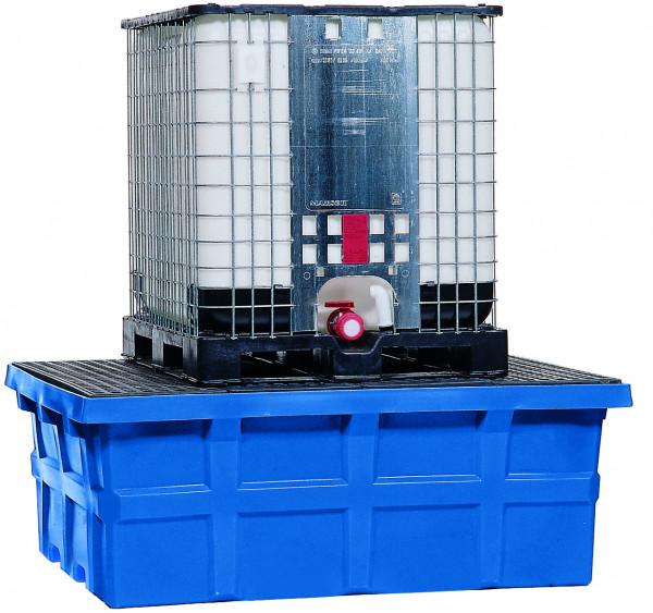 IBC-Station PE-LD mit PE-Gitterrost 1760x1410x660, Polyethylen (low density)