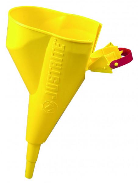 Ausgusstrichter aus Polyethylen, gelb, Polypropylen