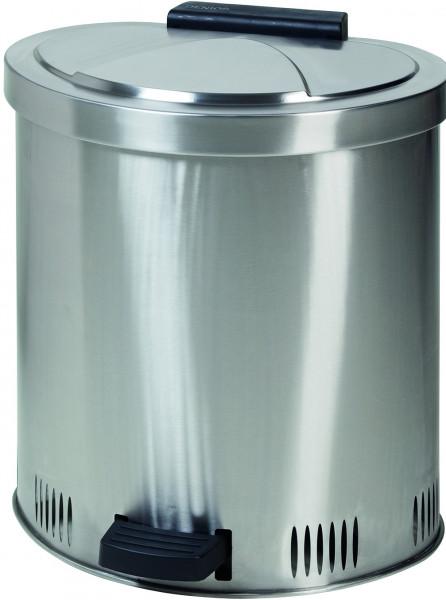 Entsorgungsbehälter für Putzlappen aus Edelstahl, 50 Liter, Edelstahl 1.4301 poliert