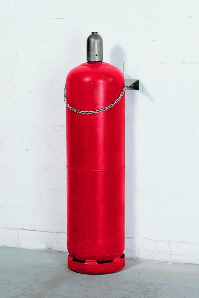 Gasflaschen-Wandhalterung aus Stahl für 1 Flasche à Ø 320 mm, Stahl verzinkt