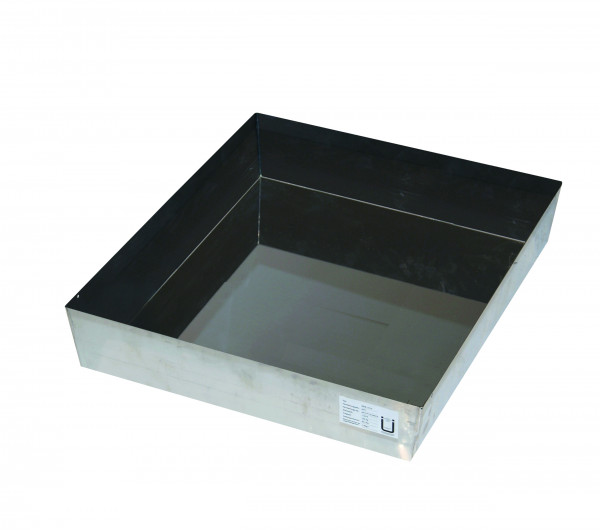 Wannenboden Standard (Volumen: 11,50 Liter) für Modell(e): Q90, S90 mit Breite 600 mm, Edelstahl 1.4301 roh