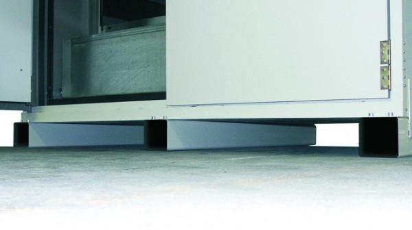 Transportsockel Höhe = 100 mm für Modell(e): XL90 mit Breite 1555 mm, Stahl pulverbeschichtet glatt