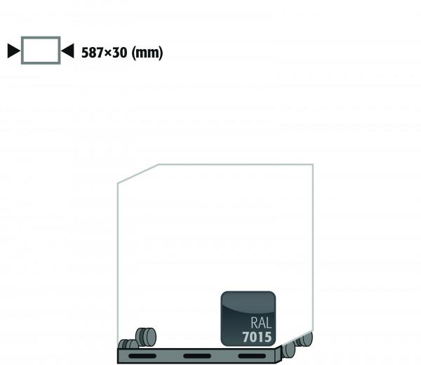 Rollen mit Sockelblende Höhe = 30 mm für Modell(e): UB90 mit Breite 590 mm, Stahlblech pulverbeschichtet glatt