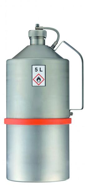 Transportkanne Edelstahl (1.4571), Inhalt: 5 Liter, Edelstahl 1.4301 poliert