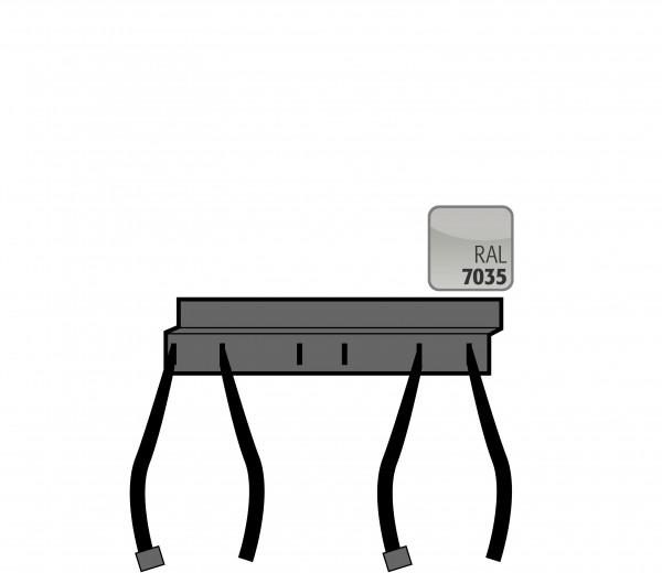 Flaschenhalter Abstandsprofil zur Flaschensicherung inkl. 2 Spanngurten und Befestigungsmaterial flexibel in d. Höhe an der Rückwand montierbar für Modell(e): G90, G30 mit Breite 600-1400 mm, Stahlblech pulverbeschichtet glatt
