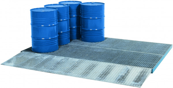 Bodenelement befahrbar Stahl mit verzinktem Gitterrost 2862x1862x78, Stahl verzinkt