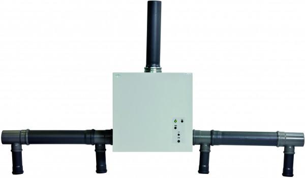 Entlüftungsmodul Modell HF.EA.8678 zur Absaugung von bis zu 4 Schränken mit Abluftüberwachung, Stahlblech pulverbeschichtet glatt