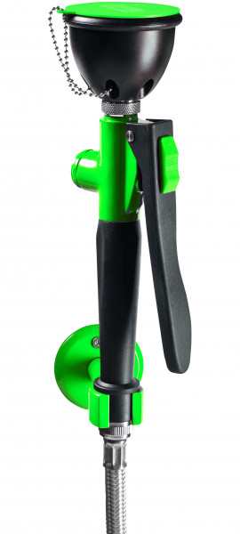 Einhandaugendusche ausziehbar, Wandmontage 90°, Grün