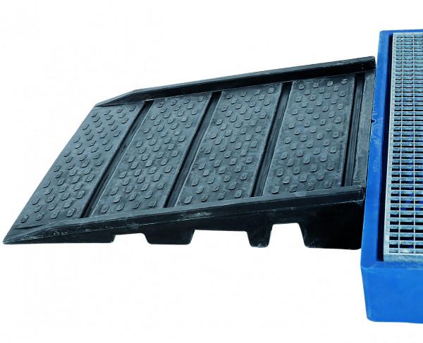 Auffahrrampe PE für Bodenelemente 900x940x150, Polyethylen