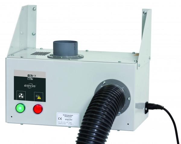 Entlüftungsmodul Modell HF.EA.15575. für Hochschränke zur Wandmontage mit Abluftüberwachung, Stahlblech pulverbeschichtet glatt
