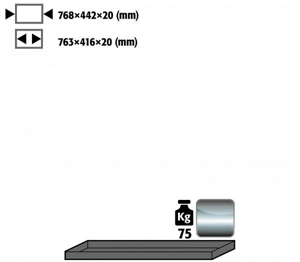 Fachboden Standard für Modell(e): UB90 mit Breite 1400 mm, Edelstahl 1.4301 roh
