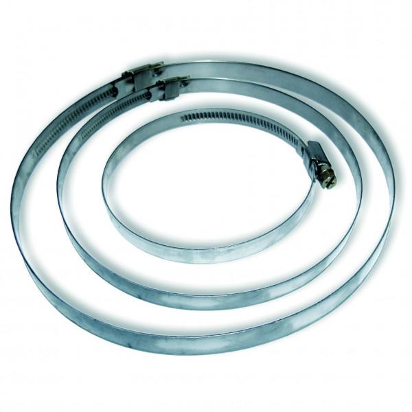 Schlauchschellen mit einer Spannbreite von 70–90 mm für Modell(e):, Stahl verchromt