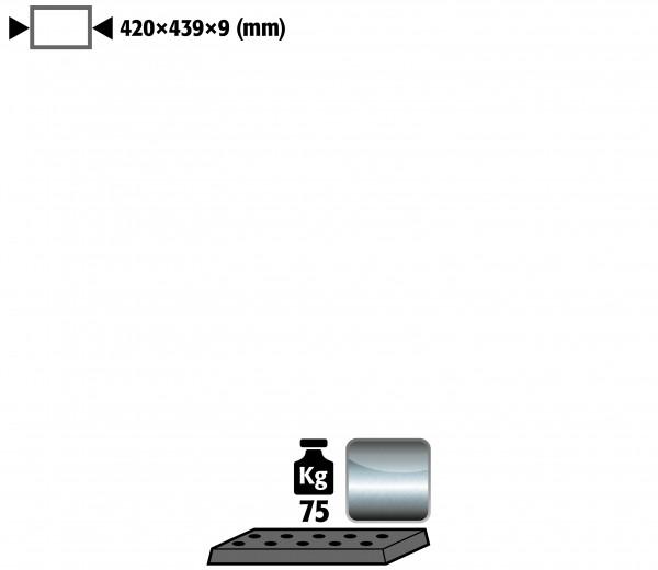 Lochblecheinsatz Standard für Modell(e): UB90, UB30 mit Breite 590/1100 mm, Edelstahl 1.4016 roh