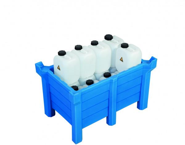 Stapelbehälter PE Blau geschlossen, 90 L, 500x500x800, Polyethylen