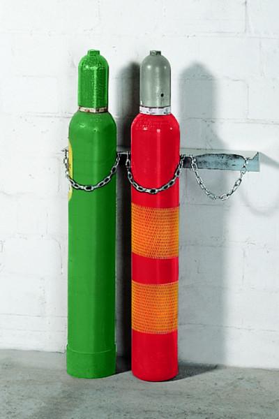 Gasflaschen-Wandhalterung aus Stahl für 3 Flaschen à Ø 140 mm, Stahl verzinkt