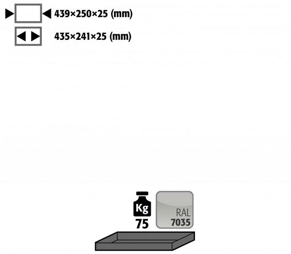 Fachboden Standard für Modell(e): G90 mit Breite 600 mm, Stahlblech pulverbeschichtet glatt