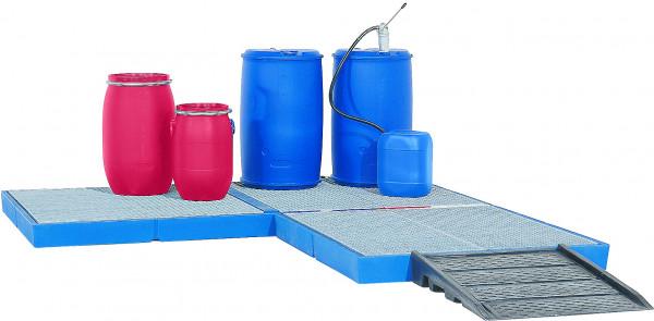 Bodenelement befahrbar PE-LD mit verzinktem Gitterrost 1500x1500x150, Polyethylen (low density)