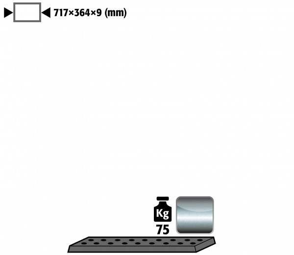 Lochblecheinsatz Standard für Unterbauschränke mit einer Breite von 890 mm für Modell(e): UB90 mit Breite 890/1400 T=500 mm, Edelstahl 1.4016 roh