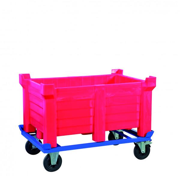 Stapelbehälter PE Rot geschlossen, 90 L, 500x500x800, Polyethylen