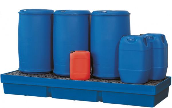 Auffangwanne PE-LD mit PE-Gitterrost 2460x840x310, Polyethylen (low density)