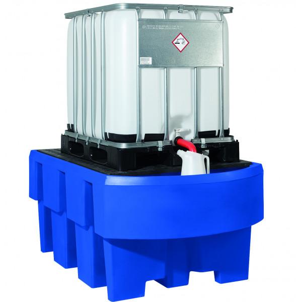 IBC-Station unterfahrbar PE mit Gitterrost aus PE und Abfüllbereich 12, Polyethylen