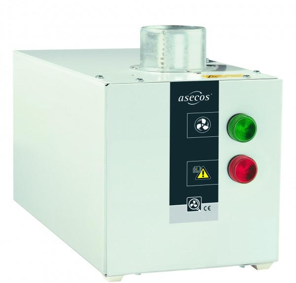 Entlüftungsaufsatz Modell HF.EA.26049. für Fassschränke mit Abluftüberwachung inkl. potentialfreiem Alarmkontakt, Stahlblech pulverbeschichtet glatt