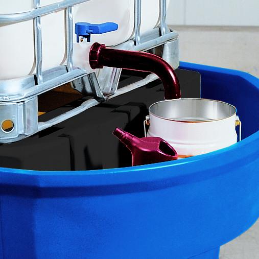 Auslaufverlängerung für IB-Container, Polyethylen