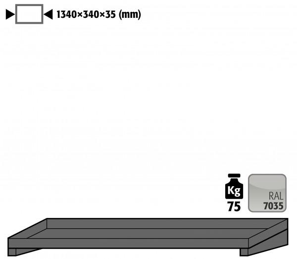 Fachboden Standard für Modell(e): GOD mit Breite 1350 mm, Stahlblech pulverbeschichtet glatt