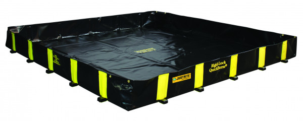 Leckage-Faltwanne befahrbar ohne Gitterrost 2600x2600x305, Textil PVC-beschichtet