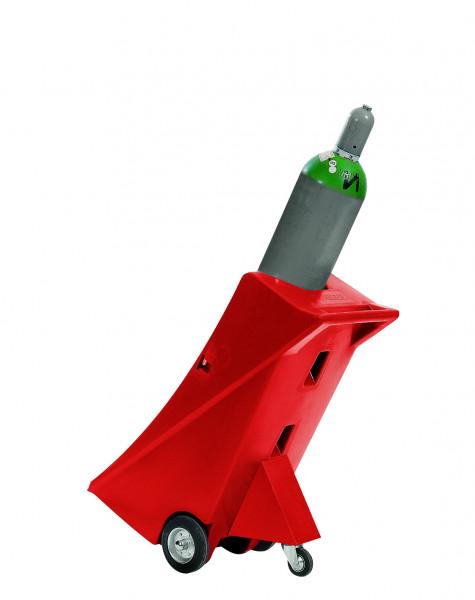 Gasflaschenwagen PE mit Stützrad für 1 Gasflasche Ø bis 320 mm, Polyethylen