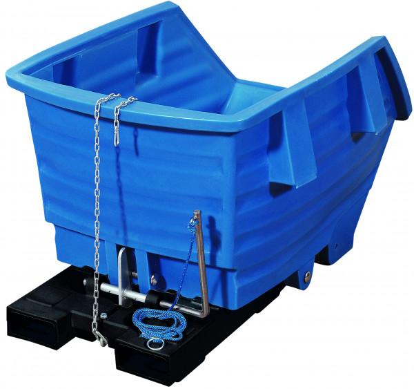 Kippbehälter PE Blau ohne Rollen, 750 L, 1650x890x1150, Polyethylen