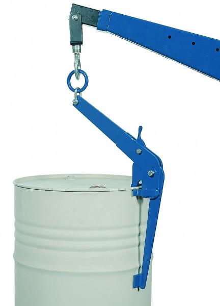 Fasszange vertikal, RAL 5010, Stahl pulverbeschichtet glatt
