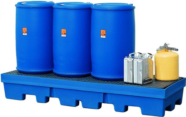 Auffangwanne PE-LD mit PE-Gitterrost 2460x845x375, Polyethylen (low density)
