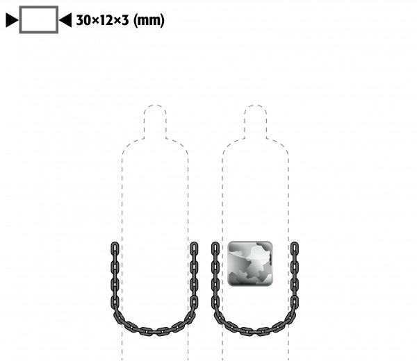 Kettensicherung anstelle Gurtsicherung für Modell(e): G90 mit Breite 600 mm, Stahl verzinkt