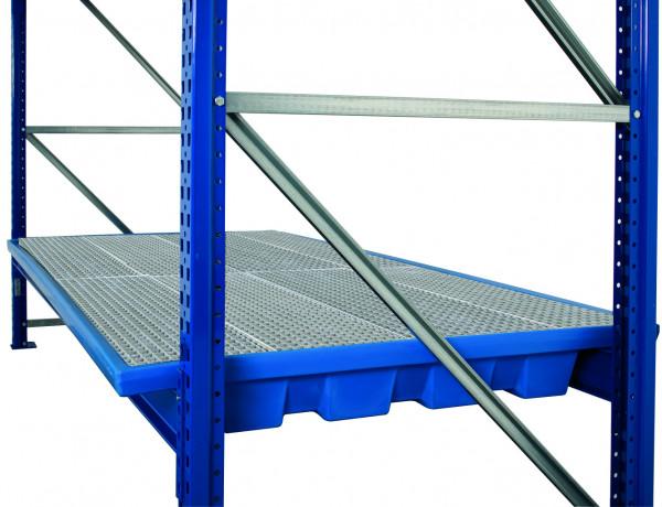 Regalwanne PE mit verzinktem Gitterrost 2680x1300x190, Polyethylen