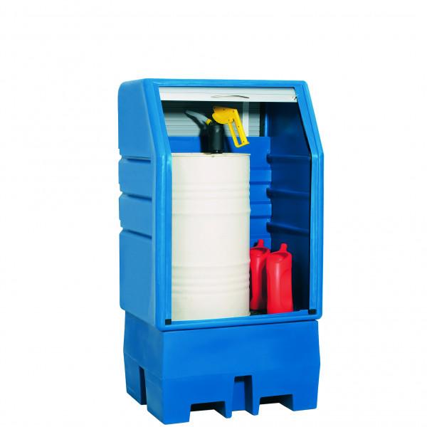 Depot unterfahrbar PE mit PE-Gitterrost 950x760x1800, Polyethylen