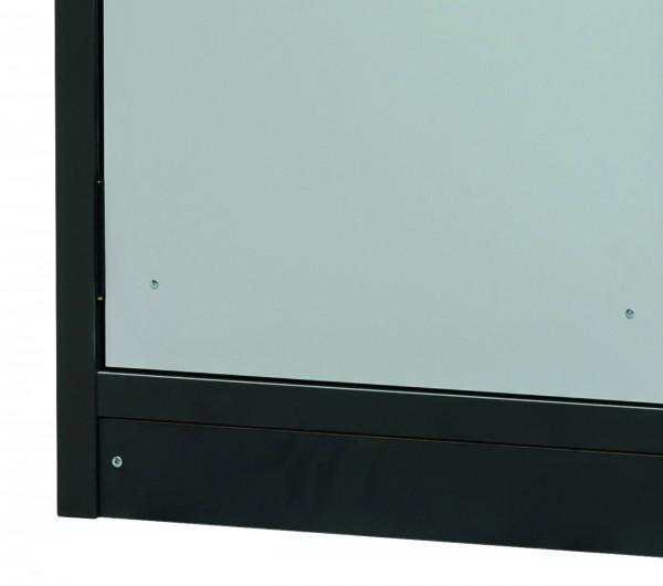 Sockelblende mit Justiervorrichtung für Modell(e): Q30 mit Breite 1200 mm, FP-Platte melaminharz-beschichtet