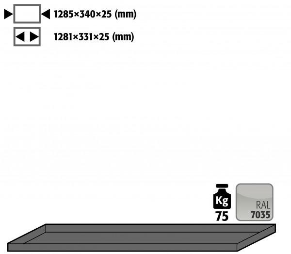 Fachboden Standard für Modell(e): G30 mit Breite 1400 mm, Stahlblech pulverbeschichtet glatt