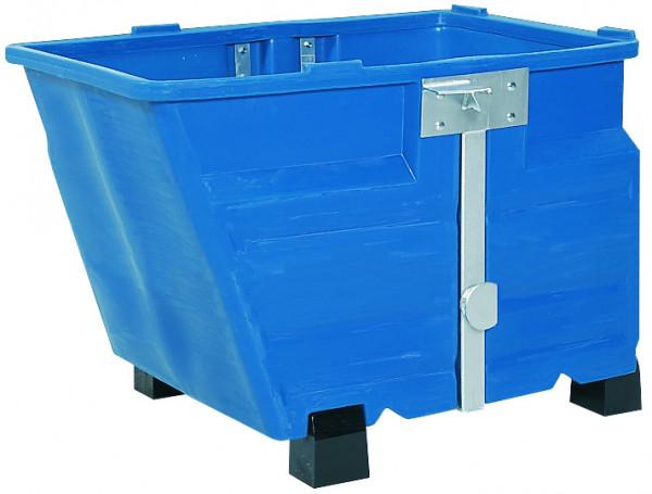 Kippbehälter PE Blau mit Füssen, 800 L, 1340x845x1160, Polyethylen